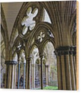 Detail Of Salisbury Cathedral Cloister  Wood Print