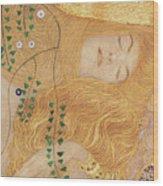 Detail Of Water Serpents I Wood Print