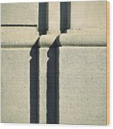 Detail Stone Pillars With Shadow Wood Print
