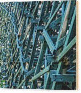 Detail View Of The Kinsol Trestle Wood Print