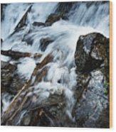 Detail Wild Stream Wood Print