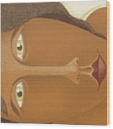 Detailed   The Face  The Seated Gipsy 2009 Wood Print