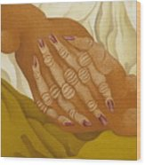 Detailed  The Hands  The Seated Gipsy  2009 Wood Print