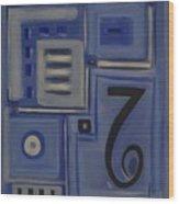 Details In Blue Wood Print
