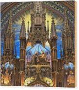 Details Notre Dame Montreal Wood Print
