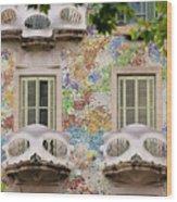 Details Of Casa Batllo In Barcelona 2, Spain Wood Print