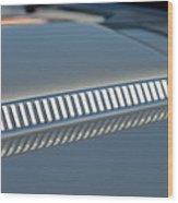 Details On Hood Of 1966 Chevrolet Corvette Sting Ray 427 Turbo-jet Wood Print