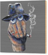 Detective Hand Wood Print