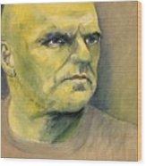 Determination / Portrait Wood Print