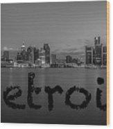 Detroit City  Wood Print