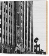 Detroit Fox Theatre Black And White Wood Print