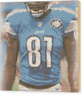 Detroit Lions Calvin Johnson 1 Wood Print