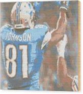Detroit Lions Calvin Johnson 2 Wood Print