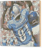 Detroit Lions Calvin Johnson 3 Wood Print