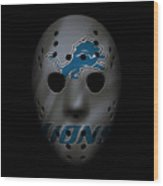 Detroit Lions War Mask 3 Wood Print