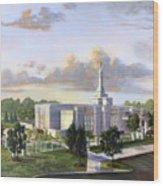 Detroit Michigan Temple Wood Print