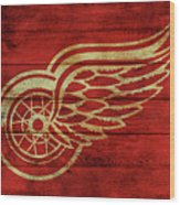 Detroit Redwings Barn Door Wood Print