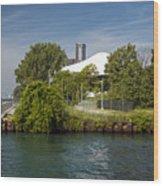 Detroit Riverfront 1 Wood Print