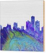 Detroit Skyline 3 Wood Print