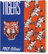Detroit Tigers 1962 Yearbook Wood Print