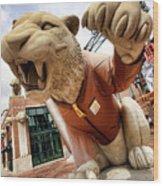 Detroit Tigers Tiger Statue Outside Of Comerica Park Detroit Michigan Wood Print by Gordon Dean II
