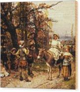 Detti Cesare Auguste A Halt Along The Way Wood Print