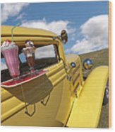 Deuce Coupe At The Drive-in Wood Print