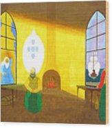 Deus Quer O Homem Sonha A Obra Nasce Wood Print