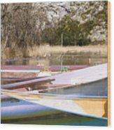 Deux Canoes Wood Print