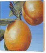 Deux Oranges Wood Print