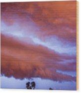 Developing Nebraska Night Shelf Cloud 011 Wood Print