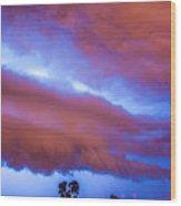 Developing Nebraska Night Shelf Cloud 012 Wood Print