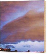 Developing Nebraska Night Shelf Cloud 013 Wood Print