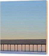 Devereax Beach Walkway Marblehead Ma Wood Print