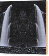Devil Falls Wood Print