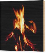 Devil Fire Wood Print