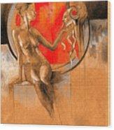 Devil Inside Wood Print