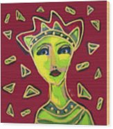 Devil Woman Wood Print