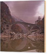 Devil's Bridge Wood Print