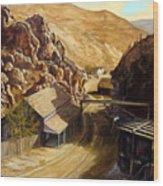 Devils Gate Nevada Wood Print by Evelyne Boynton Grierson