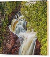 Devil's Kettle Falls Wood Print