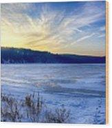 Devils Lake  Wood Print