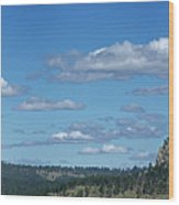 Devils Tower And The Missouri Hills Wood Print