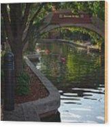 Devon Canal Bridge  Wood Print