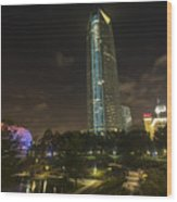 Devon Tower Okc Wood Print