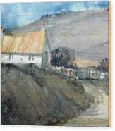 Devonshire Farm Wood Print