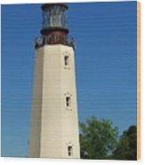 Dewey Beach Lighthouse Wood Print