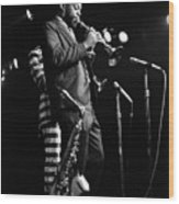 Dewey Redman On Musette Wood Print