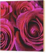 Dewy Rose Bouquet Wood Print
