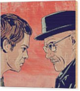 Dexter And Walter Wood Print by Giuseppe Cristiano
